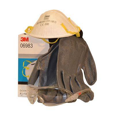 Sicherheitsset klein Handschuh, Schutzbrille, Schutzmaske